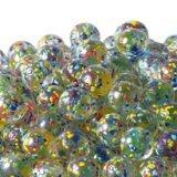 【カートン】水玉マーブル、ミックス 直径17mm 4,000個入
