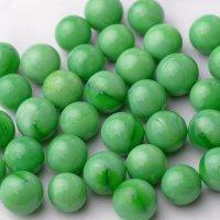 【限定商品】ガラス球 緑メノウ調 直径約16mm 約100個入