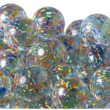 【カートン】水玉マーブル、ミックス 直径30mm 700個入