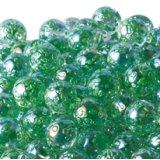 【カートン】水玉マーブル、グリーン 直径17mm 4,000個入