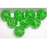 【カートン】フラッシュマーブル、グリーン 直径15mm 2,000個入(100×20入)