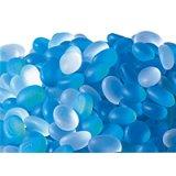 【カートン】フロストグラスドロップ ブルー/クリアー1kg×25袋入