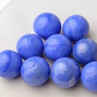 【限定商品】ガラス球 青メノウ調 直径約25mm 約50個入
