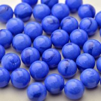 【限定商品】ガラス球 青メノウ調 直径約16mm 約100個入