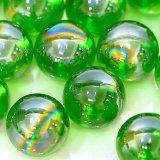 【カートン】オーロラ、グリーン 直径25mm 1,250個入